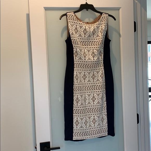 Anne Klein Dresses & Skirts - Like new Anne Klein navy and cream dress